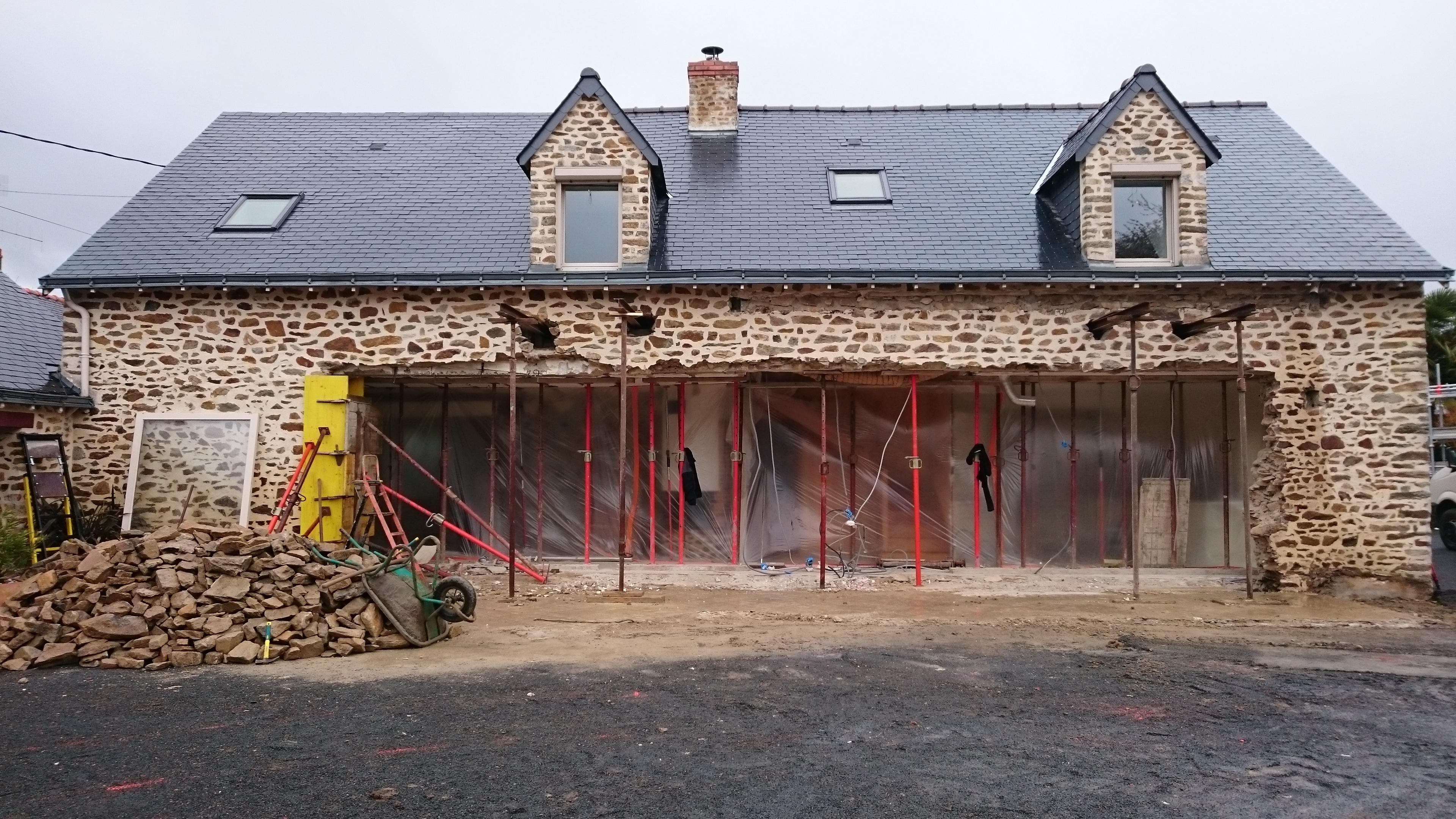 juillet 2016 extension d 39 une maison en pierre st berthevin 53 le roi jean pierre mayenne. Black Bedroom Furniture Sets. Home Design Ideas